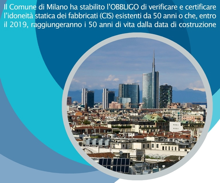 Certificato di idoneità statica del comune di Milano: stabili in scadenza nel 2019